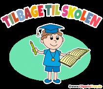Tilbage til skolen PNG -clipart på danska