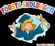 Första Skoldagen Bild, Plakat, Clip Art