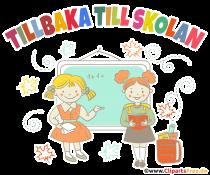 Schulanfang in Schweden Clipart, Bild, Cartoon