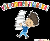 Vällkommen tillbaka - Clipart zum Schulanfang kostenlos
