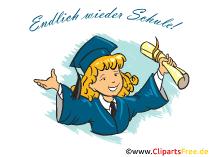 最後に学校に戻る-学校の登録をテーマにしたクリップアート