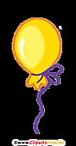 Grafik PNG Balon Kuning dengan Latar Belakang Transparan