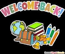 Herzlich Willkommen in der Schule Clipart, Plakat, Illustration