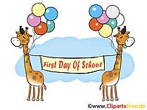 Ilustrasi Hari pertama di sekolah