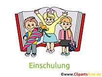 Kinder Bilder zur Einschulung