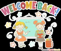 Plakat Willkommen zurück in der Schule
