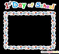 Bingkai hari pertama di sekolah - pendaftaran clipart