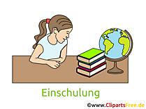 Schulbeginn Cliparts, Bilder, Grafiken