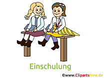 Schulkinder Bild, Clipart, Cartoon gratis