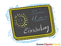 Schultafel Bild, Clipart, Grafik zum Schulanfang
