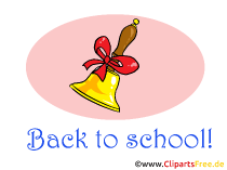 学校に戻るクリップアート、カード