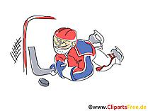 アイスホッケーの攻撃画像、イラスト、クリップアート、コミック、漫画無料