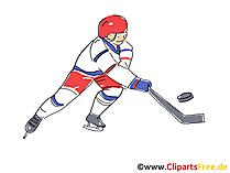 アイスホッケー選手フォワードクリップアート画像無料