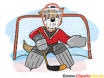 Eishockey-Torwart Clipart, Bild, Grafik, Cartoon, Comic, Illustration kostenlos