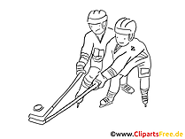 Eishockey Ausmalbild gratis
