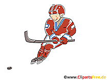 Eishockey Deutschland Clipart, Bild, Comic, Cartoon, Illustration gratis