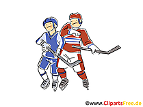 Eishockey Illustration, Clipart, Comic, Cartoon gratis