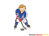 Eishockey Spieler Clipart, Bild, Comic, Cartoon, Illustration kostenlos
