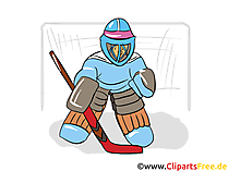 Eishockey Torhüter Clipart, Bild, Illustration, Grafik gratis