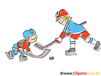 Eishockey WM  Bild, Illustration, Clipart, Comic, Cartoon gratis