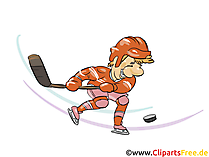 Eishockey Wurf ins Tor Clipart, Bild, Grfaik, Cartoon