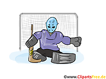 Goalkeeper ice hockey clipart free