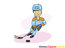 Hockey-Spieler Clipart, Bild, Grafik