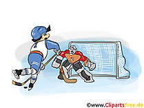 Ice hockey game illustrations