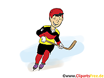 Ice hockey player clipart free