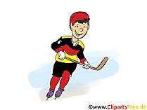 アイスホッケー選手のクリップアート無料