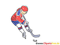 Ice hockey wm illustration, clip art, image, comic, cartoon free