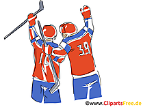 Ice hockey world championship illustration, clipart, comic, cartoon gratis