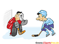 Siebenmeter Eishockey Clipart, Bild, Grfaik, Cartoon