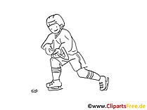 Spieler Eishockey Malbild