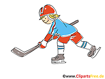 Stürmer Eishockey Clipart, Bild, Comic, Cartoon, Illustration gratis