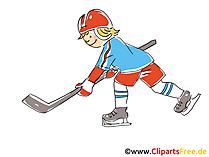 ストライカーアイスホッケーのクリップアート、画像、コミック、漫画、イラスト無料