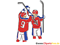 Tor Eishockey Bild, Illustration, Clipart, Comic, Cartoon gratis