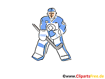 Torwart Eishockey Clipart, Bild, Comic, Cartoon, Illustration free