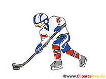 Verteidiger Eishockey Clipart, Bild, Comic, Cartoon, Illustration gratis