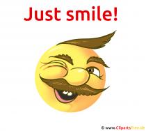 Śmiejąca się buźka - tylko się uśmiechnij