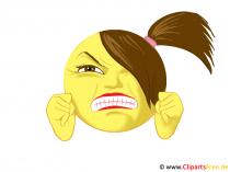 Wütender Smiley