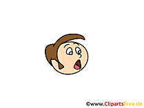 Angst Clipart, Bild, Cartoon, Comic, Illustration gratis
