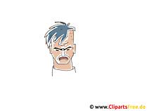 悪い顔のクリップアート