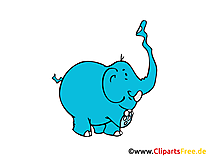 Elefant Clipart, Bild, Cartoon, Comic gratis