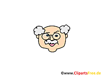 Großvater Clipart, Bild, Cartoon, Comic, Illustration gratis