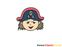 Pirat Clipart, Bild, Cartoon, Comic, Illustration gratis
