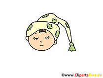 Schlafmütze Clipart, Bild, Cartoon, Comic, Illustration gratis