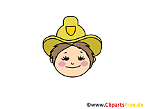 Sheriff Clipart, Bild, Cartoon, Comic, Illustration gratis