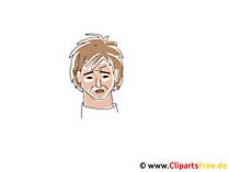悲しい顔クリップアート