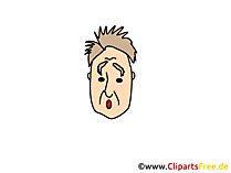 Überrascht Clipart, Bild, Cartoon, Comic, Illustration gratis